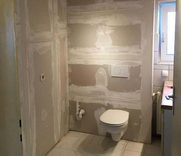 Vorher Toilette